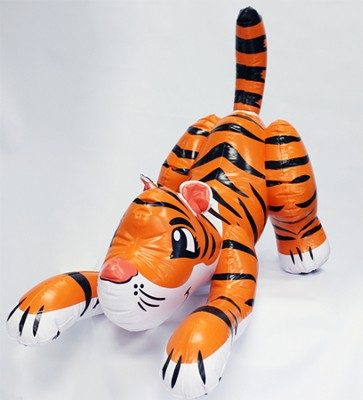 Siberian Tiger Lifelike Inflatable Animal, 96 Long   -