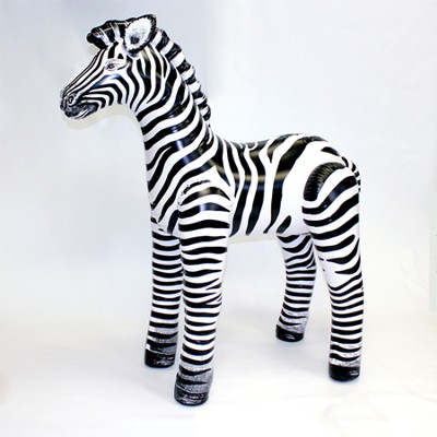 Small Zebra Inflatable Animal, 29 High             -