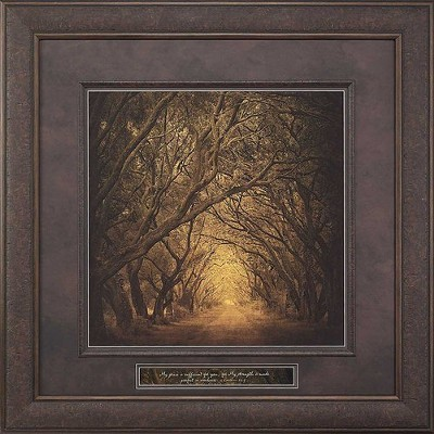 Evergreen Oak Alley, My Grace Is Sufficient For You Framed Art  -