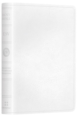 ESV Pocket New Testament with Psalms and Proverbs--soft leather-look, white - Slightly Imperfect  -