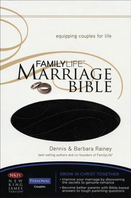 NKJV FamilyLife Marriage Bible: Leathersoft Dark Brown - Imperfectly Imprinted Bibles  -     By: Dennis Rainey, Barbara Rainey