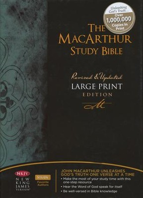 NKJV MacArthur Study Bible Large Print Hardcover - Imperfectly Imprinted Bibles  -     By: John MacArthur