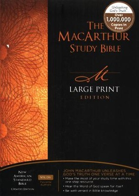 NASB MacArthur Study Bible Large Print Hardcover Thumb-Indexed   -     By: John MacArthur