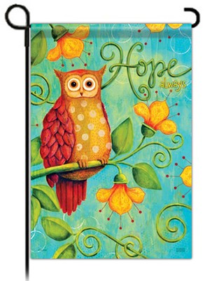 Hope Always, Owl Flag, Small  -     By: Karla Dornacher