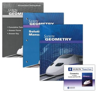 Saxon Geometry Homeschool Kit & Saxon Teacher CD-ROMs, First Edition  -