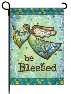 Be Blessed with Wings Flag, Small  -     By: Robin Davis
