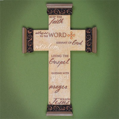 Ministry Words Wall Cross  -