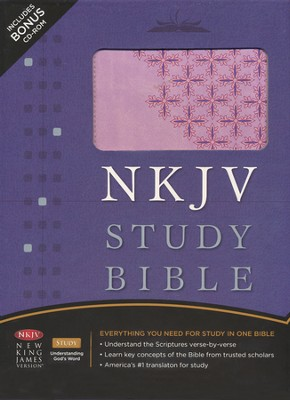 NKJV Study Bible: Second Edition - LeatherSoft/Lavender  -