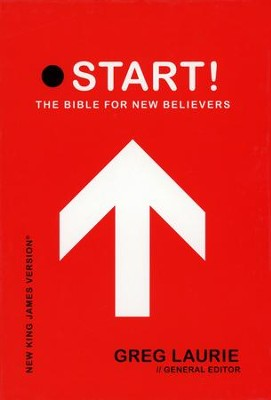 NKJV Start! The Bible for New Believers - LeatherSoft Raven Black  -     Edited By: Greg Laurie     By: Edited by Greg Laurie