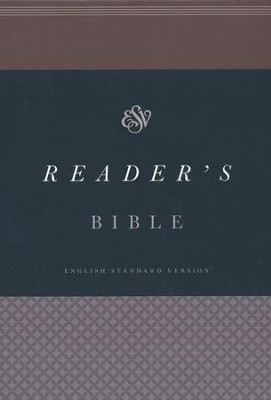ESV Reader's Bible , Cloth Hardcover   -