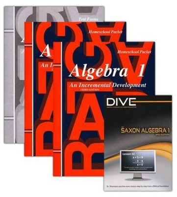 Saxon Algebra 1 Kit & DIVE CD-ROM, 3rd Edition   -