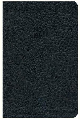 KJV Compact Ultraslim Bible - LeatherSoft Grain Black  -