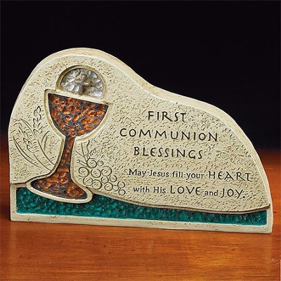 First Communion Blessing Mosaic Plaque  -