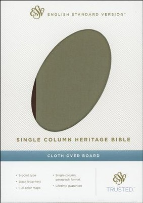 ESV Single Column Heritage Bible, Clothbound Hardcover  -