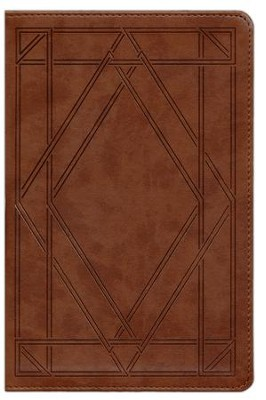 ESV Single Column Legacy Bible, TruTone, Chestnut with Wood Panel Design  -