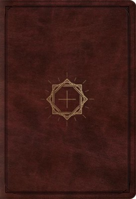 ESV Student Study Bible, TruTone, Mahogany with Crown and Cross Design  -
