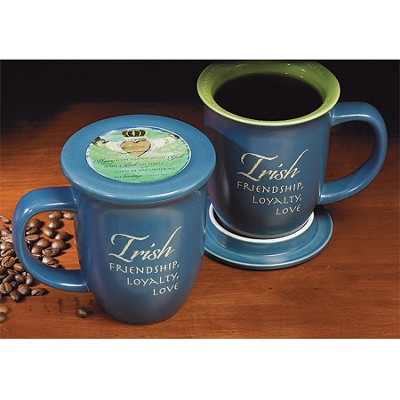Irish Friendship, Loyalty, Love Mug and Coaster  -