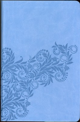 KJV Gift Bible: Imitation Leather Cornflower Blue Foliage  -