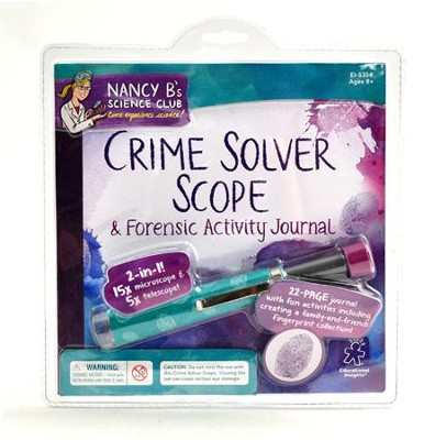 Nancy B's Science Club: Crime Solver Scope & Forensics Activity Journal   -
