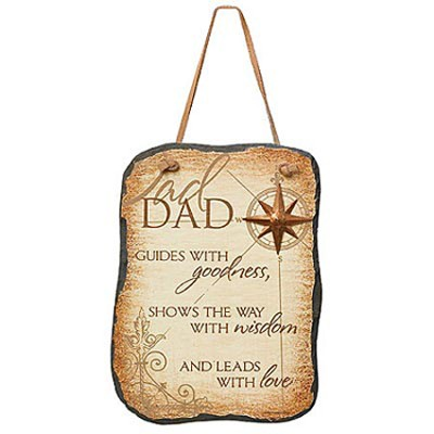 Dad Guides with Goodness Plaque  -