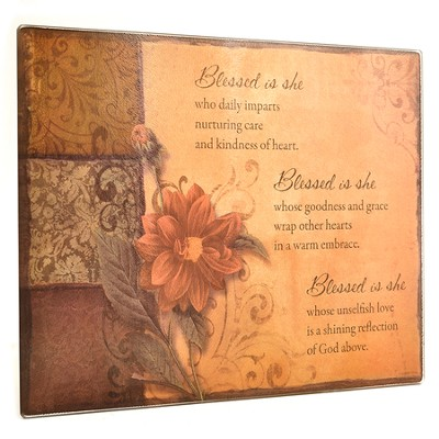 Blessed Is She Cutting Board, Earthtones   -