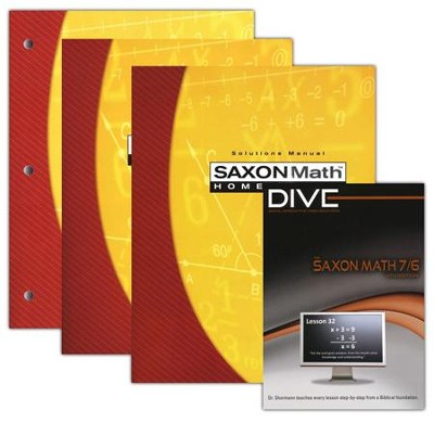Saxon Math 7/6 Kit & DIVE CD-Rom, 4th Edition   -