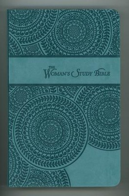 NKJV Woman's Study Bible, Personal Size: Leathersoft Peacock Blue  -