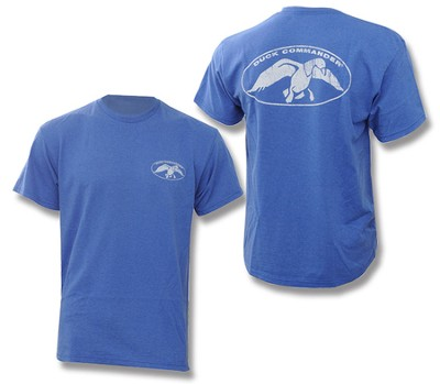 Duck Commander Logo Shirt, Blue, Medium   -