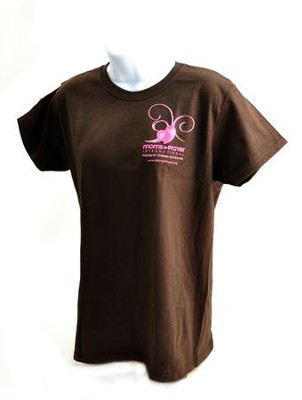 Moms in Prayer Shirt, Brown Ladies Style, Medium   -