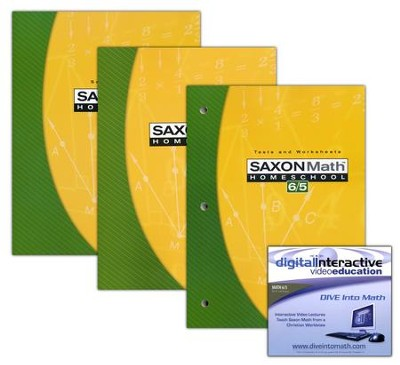 Saxon Math 6/5 Kit & DIVE CD-Rom, 3rd Edition   -