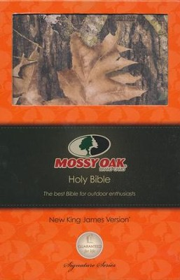 NKJV Ultraslim Bible, Mossy Oak Edition--soft leather-look, camo  -
