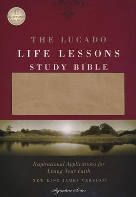 The NKJV Lucado Life Lessons Study Bible, Leathersoft Cafe au Lait/ StormCloud Gray  -     By: Max Lucado