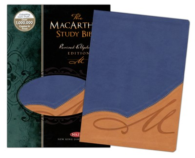 The NKJV MacArthur Study Bible, Indexed, Revised and Updated, Leathersoft, Butterscotch/Blue Jay  -     By: John MacArthur