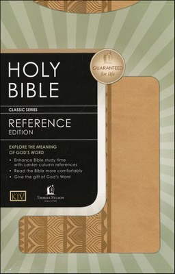 KJV Personal Size Reference Bible--soft leather-look, brown sugar  -
