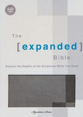 The Expanded Bible, Leathersoft Dove Gray  -