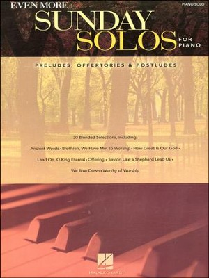 Even More Sunday Solos for Piano   -