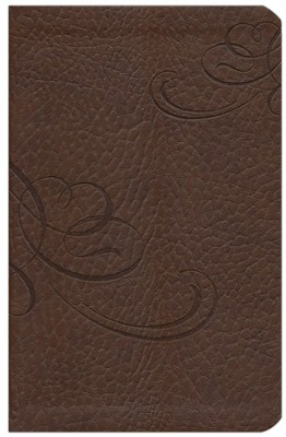 NKJV Jesus Calling Devotional Bible, Leathersoft, Chocolate  -