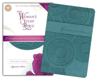 KJV The Woman's Study Bible, Leathersoft, peacock blue  -