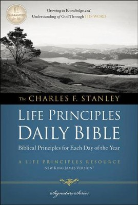 NKJV Charles F. Stanley Life Principles Daily Bible - Slightly Imperfect  -