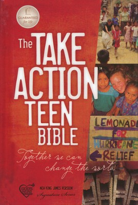 The NKJV Take Action Bible, Teen Edition--hardcover   -