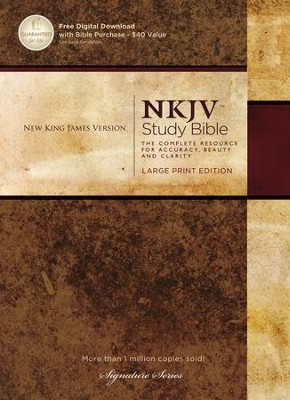 NKJV Study Bible, Large Print, Hardcover  -