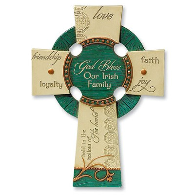 Irish Family Prayer Wall Cross  -