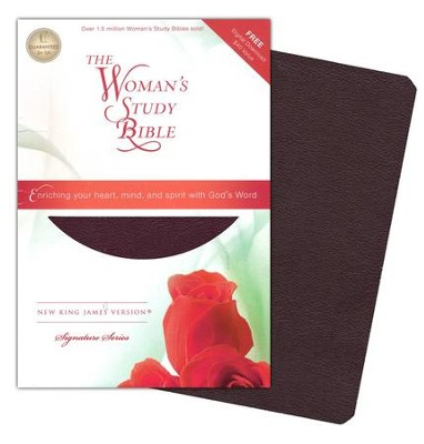 NKJV The Woman's Study Bible, Bonded leather, burgundy indexed - Imperfectly Imprinted Bibles  -