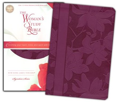 NKJV The Woman's Study Bible, Leathersoft, plum indexed - Imperfectly Imprinted Bibles  -