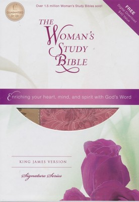 KJV The Woman's Study Bible, Fabric/leathersoft, pink/caf&#233 au lait indexed  -