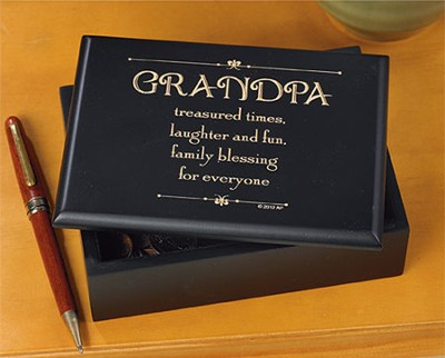 Grandpa Treasured Times Trinket Box  -