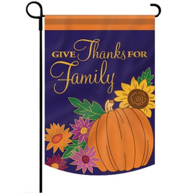 Give Thanks for Family Flag, Small  -