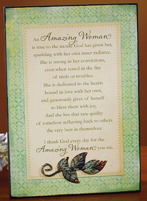 Amazing Woman Plaque  -