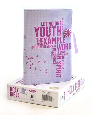 NKJV Compact Ultraslim Bible, Leathersoft, powder purple  -