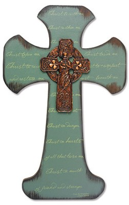 Saint Patrick Irish Wall Cross  -